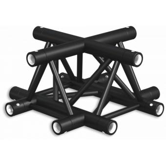 ST30X4LDB - 4-way X joint for ST30 Series, tube 50x2mm, 2x FCT5 included, Left, V.Down,BK #2