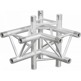 ST30X4LDB - 4-way X joint for ST30 Series, tube 50x2mm, 2x FCT5 included, Left, V.Down,BK #3