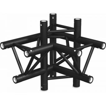 ST30X4LDB - 4-way X joint for ST30 Series, tube 50x2mm, 2x FCT5 included, Left, V.Down,BK #4