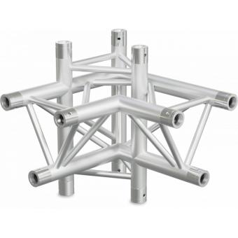 ST30X4LDB - 4-way X joint for ST30 Series, tube 50x2mm, 2x FCT5 included, Left, V.Down,BK #5