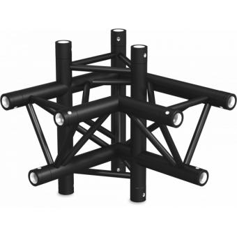 ST30X4LDB - 4-way X joint for ST30 Series, tube 50x2mm, 2x FCT5 included, Left, V.Down,BK #6