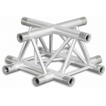 ST30X4LDB - 4-way X joint for ST30 Series, tube 50x2mm, 2x FCT5 included, Left, V.Down,BK