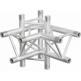 ST30X4RDB - 4-way X joint for ST30 Series, tube 50x2mm, 2x FCT5 included, Right, V.Down,BK #5