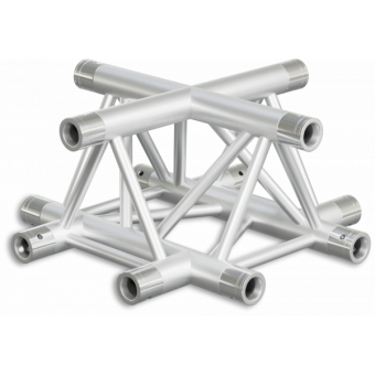 ST30X4RDB - 4-way X joint for ST30 Series, tube 50x2mm, 2x FCT5 included, Right, V.Down,BK