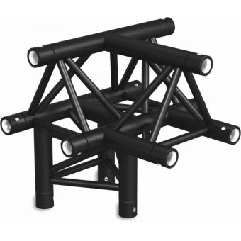 ST30T4DB - 4-way T joint for ST30 Series, tube 50x2mm, 2x FCT5 included, V.Down,BK #2