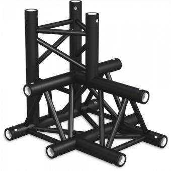 ST30T4DB - 4-way T joint for ST30 Series, tube 50x2mm, 2x FCT5 included, V.Down,BK #4