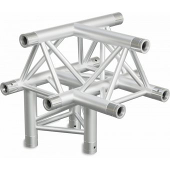 ST30T4DB - 4-way T joint for ST30 Series, tube 50x2mm, 2x FCT5 included, V.Down,BK
