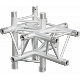 ST30T5UB - 5-way T joint for ST30 Series, extrude tube 50x2mm, 2x FCT5 included, V.Up,BK