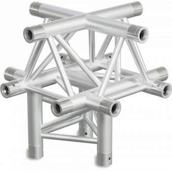 ST30X5UB - 5-way X joint for ST30 Series, extrude tube 50x2mm, 2x FCT5 included, V.Up,BK