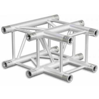 HQ30T3 - 3-way T joint for HQ30 Series, extrude tube 50x3mm, 2x FCQ5 included