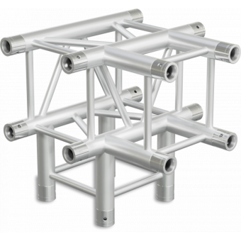 HQ30T4 - 4-way T joint for HQ30 Series, extrude tube 50x3mm, 2x FCQ5 included