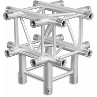 HQ30T5 - 5-way T joint for HQ30 Series, extrude tube 50x3mm, 2x FCQ5 included