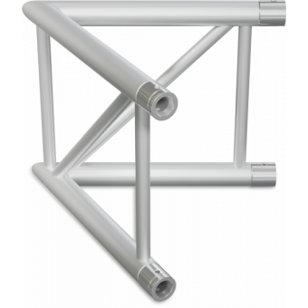 SF40L2045V - 2-way corner for SF40 Series, extrude tube 50x2mm, FCF5 included, 45°, Vert. #3