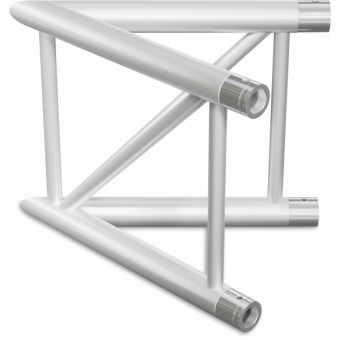 SF40L2045V - 2-way corner for SF40 Series, extrude tube 50x2mm, FCF5 included, 45°, Vert.