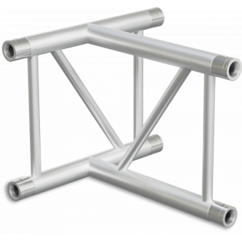 SF40T3VB - 3-way T joint for SF40 Series, extrude tube 50x2mm,2x FCF5 included,Vert.,BK