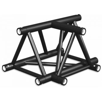 ST40T3LDB - 3-way T joint for ST40 Series, tube 50x2mm, 2x FCT5 included,Left,V.Down,BK #6
