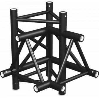 ST40X4UB - 4-way X joint for ST40 Series, tube 50x2mm, 2x FCT5 included, V.Up,BK #6