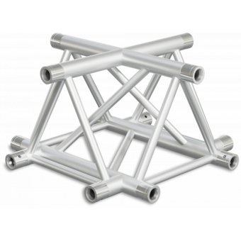 ST40X4LB - 4-way X joint for ST40 Series, tube 50x2mm, 2x FCT5 included, Left,BK