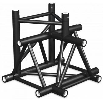 ST40T4UB - 4-way T joint for ST40 Series, tube 50x2mm, 2x FCT5 included, V.Up,BK #4