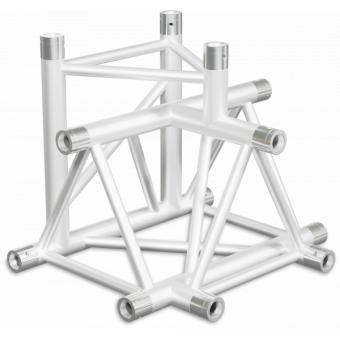 ST40T4DB - 4-way T joint for ST40 Series, tube 50x2mm, 2x FCT5 included, V.Down,BK #3