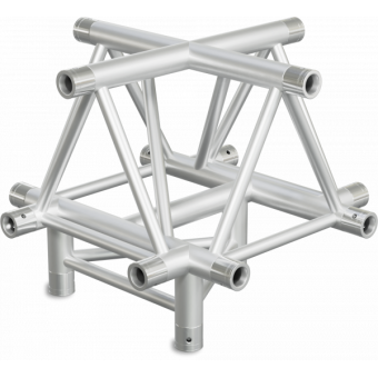 ST40X5U - 5-way X joint for ST40 Series, extrude tube 50x2mm, 2x FCT5 included, V.Up