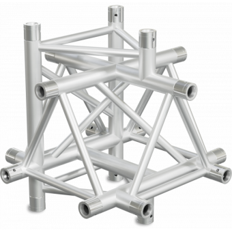 ST40X6DB - 6-way X joint for ST40 Series, extrude tube 50x2mm, 2x FCT5 included, V.Down,BK