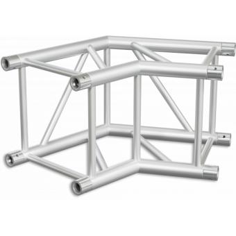 HQ40L2060B - Angolo 2vie compatibile truss HQ40, tubo corr. 50x3mm, FCQ5 incluso, 60°,BK #3