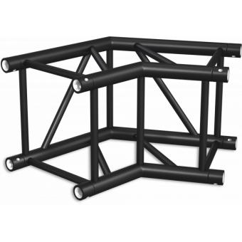 HQ40L2060B - Angolo 2vie compatibile truss HQ40, tubo corr. 50x3mm, FCQ5 incluso, 60°,BK #4