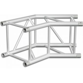 HQ40L2060B - Angolo 2vie compatibile truss HQ40, tubo corr. 50x3mm, FCQ5 incluso, 60°,BK #5
