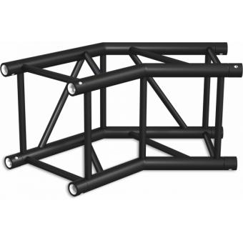 HQ40L2060B - Angolo 2vie compatibile truss HQ40, tubo corr. 50x3mm, FCQ5 incluso, 60°,BK #6