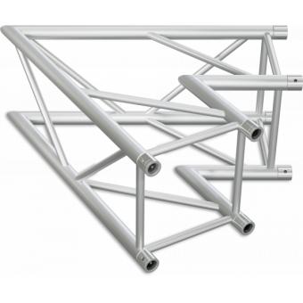 HQ40L2060B - Angolo 2vie compatibile truss HQ40, tubo corr. 50x3mm, FCQ5 incluso, 60°,BK #7
