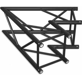 HQ40L2060B - Angolo 2vie compatibile truss HQ40, tubo corr. 50x3mm, FCQ5 incluso, 60°,BK #8