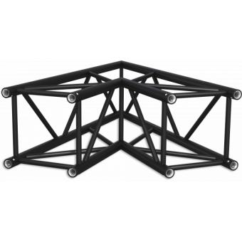 HQ40L2060B - Angolo 2vie compatibile truss HQ40, tubo corr. 50x3mm, FCQ5 incluso, 60°,BK #10