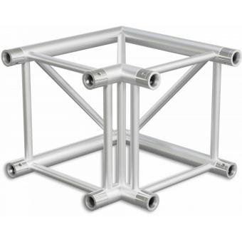 HQ40L2060B - Angolo 2vie compatibile truss HQ40, tubo corr. 50x3mm, FCQ5 incluso, 60°,BK