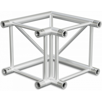 HQ40L2120B - 2-way corner for HQ40 Series, extrude tube 50x3mm, FCQ5 included, 120°,BK