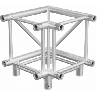 HQ40L3 - 3-way L corner for HQ40 Series, extrude tube 50x3mm, 2x FCQ5 included