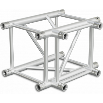 HQ40T3 - 3-way T joint for HQ40 Series, extrude tube 50x3mm, 2x FCQ5 included