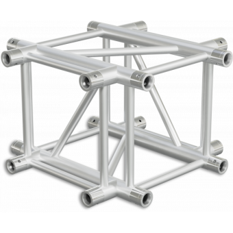 HQ40X4 - 4-way X joint for HQ40 Series, extrude tube 50x3mm, 2x FCQ5 included