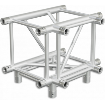 HQ40T4 - 4-way T joint for HQ40 Series, extrude tube 50x3mm, 2x FCQ5 included
