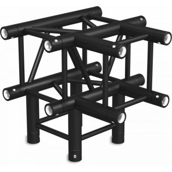 SQ30T4B - Raccordo T 4vie compatibile truss SQ30, tubo c. 50x2mm, 2x FCQ5 incluso, BK