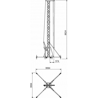 PATWR07H10 - Tower lifter for audio system,Max height (10,5m)Max Load (750kg) #4
