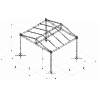 SRD30M0806 - Two-slope roof, 8.5x6x8 m #16