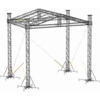 SRD30M0806 - Two-slope roof, 8.5x6x8 m