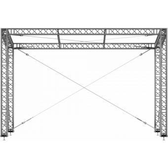 SRS40M1008 - Flat roof structure, 10x8.5x8 m #2
