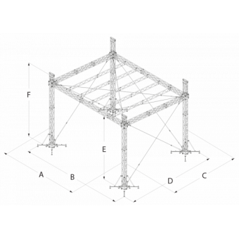 SRS40M1008 - Flat roof structure, 10x8.5x8 m #16