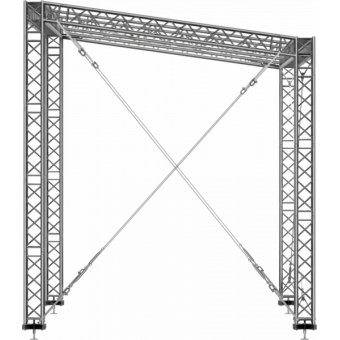 SRS40M1008 - Flat roof structure, 10x8.5x8 m #3