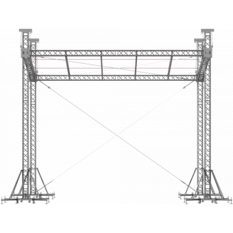 SRS40M1008 - Flat roof structure, 10x8.5x8 m #6