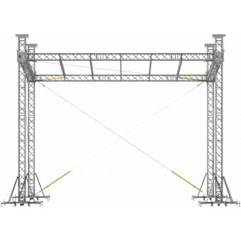 SRS40M1008 - Flat roof structure, 10x8.5x8 m #10