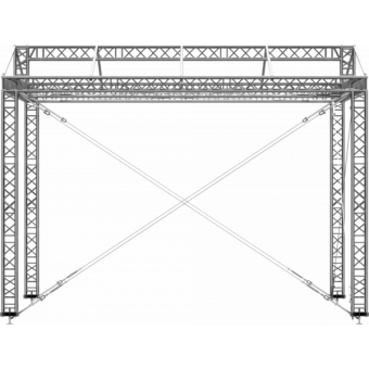 GRD30M0604 - Two-slope roof,  6x4x4.5 m #7