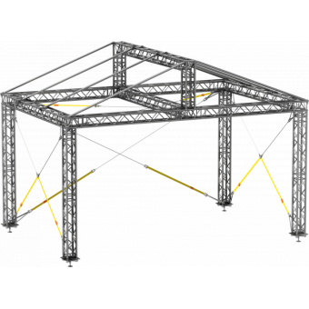 GRD30M0604 - Two-slope roof,  6x4x4.5 m